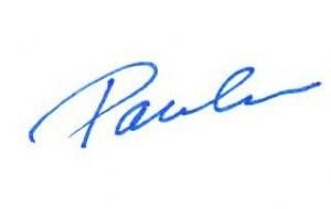 Paula's signature